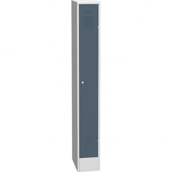 Garderoben-Stahlspind Delta PROTECT Blaugrau RAL 7031 | 250 | 1 | Zylinderschloss
