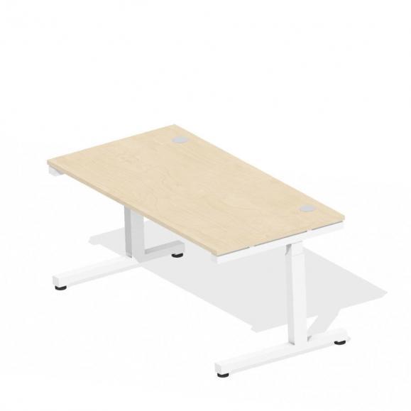 Schreibtisch Comfort 2.0 MULTI MODUL Ahorndekor | 1600 | Weiß RAL 9016