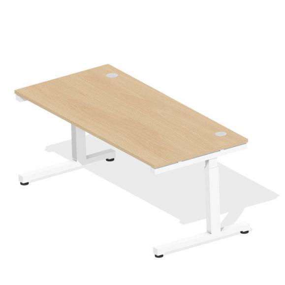 Schreibtisch Comfort 2.0 MULTI MODUL Buchedekor | 1800 | Weiß RAL 9016