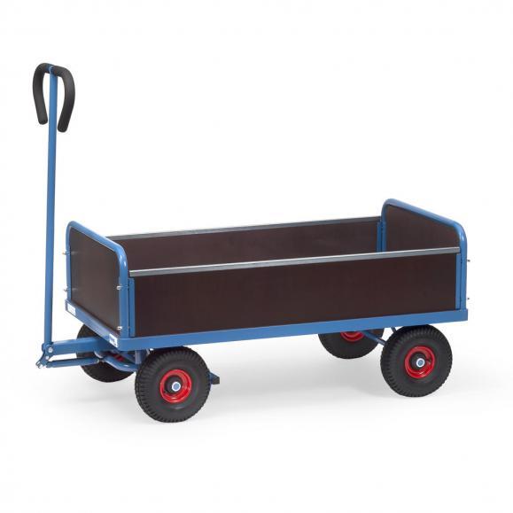 Handwagen 500 kg, mit 4 Wänden,