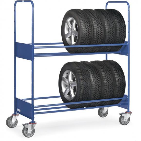 Reifenwagen 250 kg, mit 2 Ladeflächen