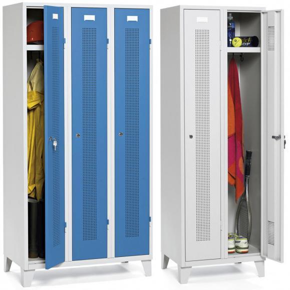 Garderoben-Stahlspinde SYSTEM SP1 mit Füßen