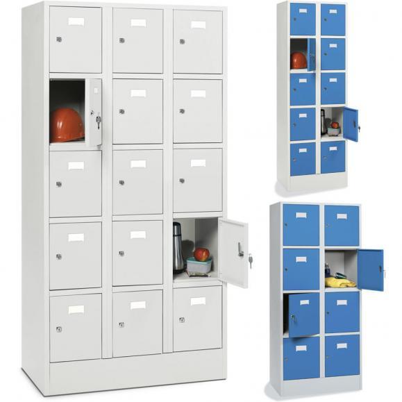 Schließfachschränke SYSTEM SP1 mit Sockel, glatte Türen