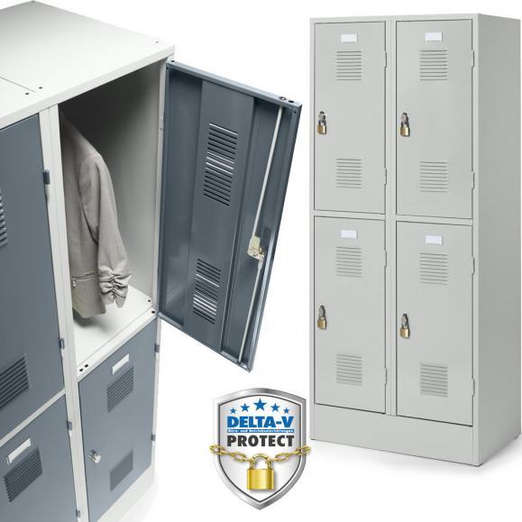 Doppelstöckige Garderobenspinde Serie DELTA PROTECT