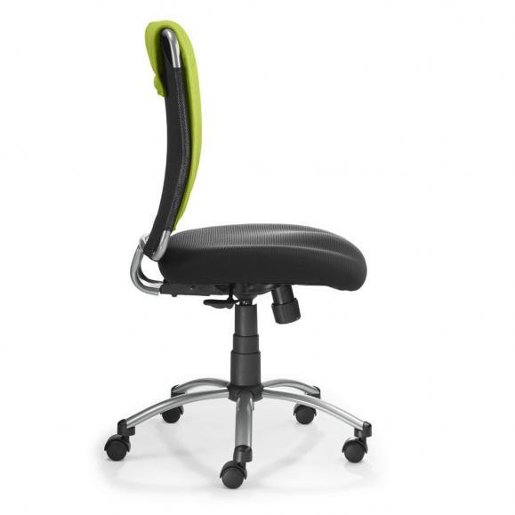 Bürodrehstuhl NUBA ohne Armlehnen Grün-Schwarz