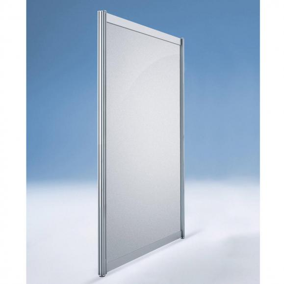 Hygieneschutzwand ALASKA, 1-teilige Optik 1380   1000   Stellwand, 1-teilige Optik   MDF-Dekor silber