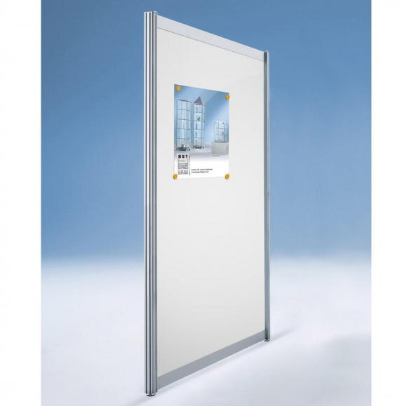 Hygieneschutzwand ALASKA, 1-teilige Optik 1380 | 1000 | Stellwand, 1-teilige Optik | Metall, weiß, magnethaftend