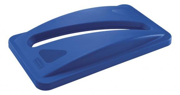 Deckel für Papiereinwurf Polyethylen, blau