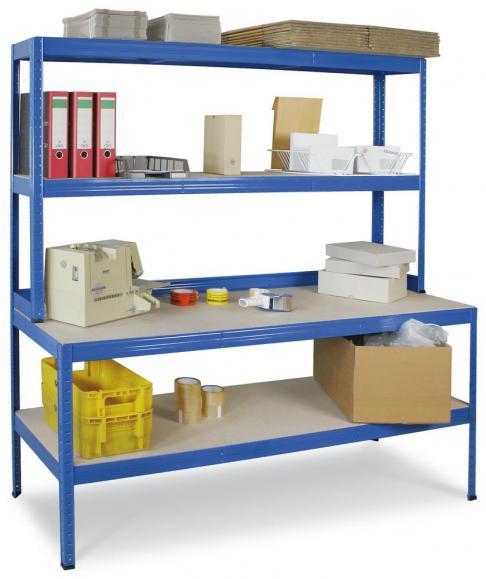 Arbeits- und Packtisch, Stecksystem 1800