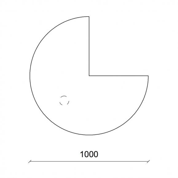 Anbauplatten 3/4 Kreis für Comfort-Tische