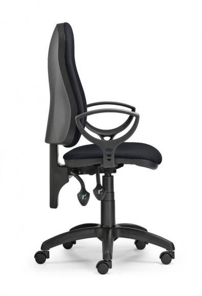 Bürodrehstuhl COMFORT P inkl. Armlehnen Schwarz | Polyamid schwarz
