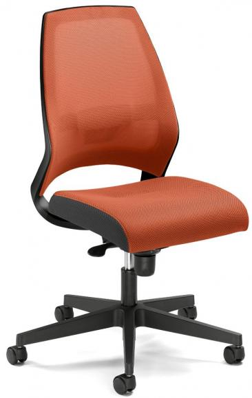 Bürodrehstuhl CONTRADA ohne Armlehnen Orange | Polyamid schwarz