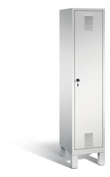 Garderoben-Stahlspind SERIE EVOLO mit Füßen Lichtgrau RAL 7035 | Lichtgrau RAL 7035 | 400 | 1