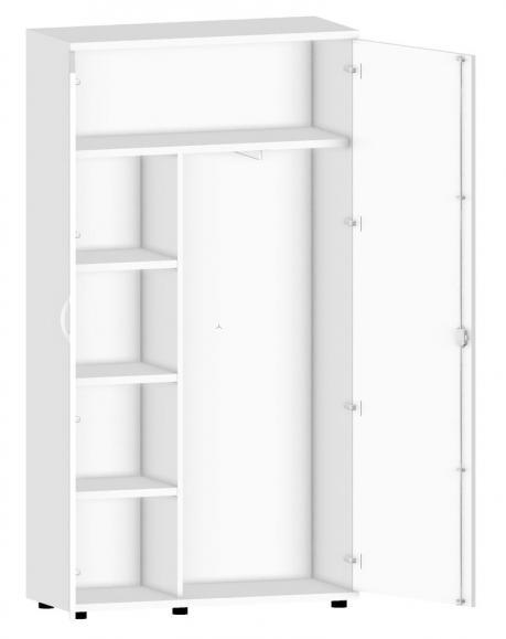 Garderobenschrank PROFI MODUL Weiß | 1000 | 1890 mm (5 OH)