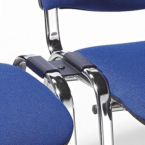 Reihenverbinder für Besucherstuhl ISO Schwarz