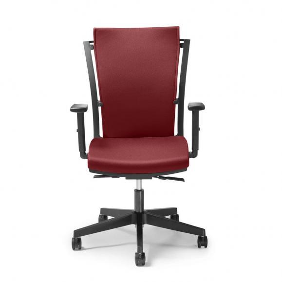 Bürodrehstuhl FlexPro ohne Armlehnen Rot