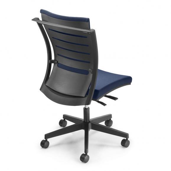 Bürodrehstuhl FlexPro ohne Armlehnen Blau