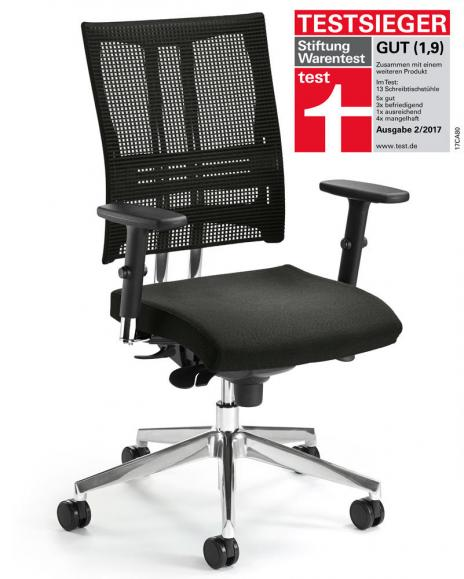Bürodrehstuhl STAR NET mit Armlehnen