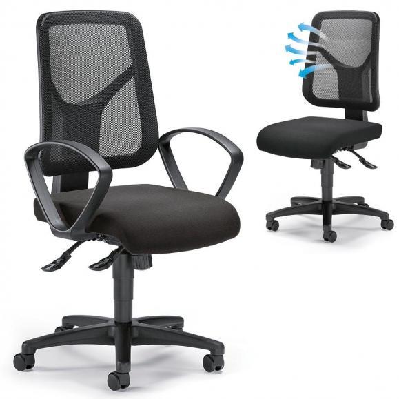 Bürodrehstuhl COMFORT R NET - Synchron-Mechanik