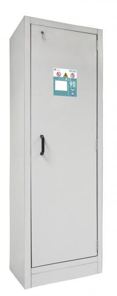 Sicherheitsschrank 1-flüglig Typ90 Lichtgrau RAL 7035 | 600 | 6x Auszugswannen á 11L