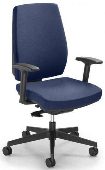 Bürodrehstuhl Ergo SIT mit Armlehnen Blau