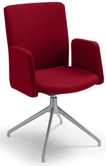 Konferenzstuhl Sittness Meeting 2.0 Rot | Aluminium
