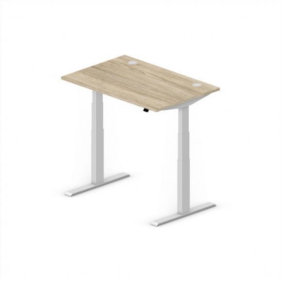 Sitz-/Stehschreibtisch Comfort EVO Wildeiche | 1200 | Alusilber RAL 9006