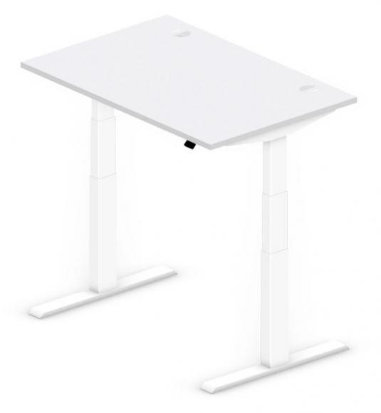 Sitz-/Stehtisch Comfort PROFI MODUL Lichtgrau | 1200 | Weiß RAL 9016