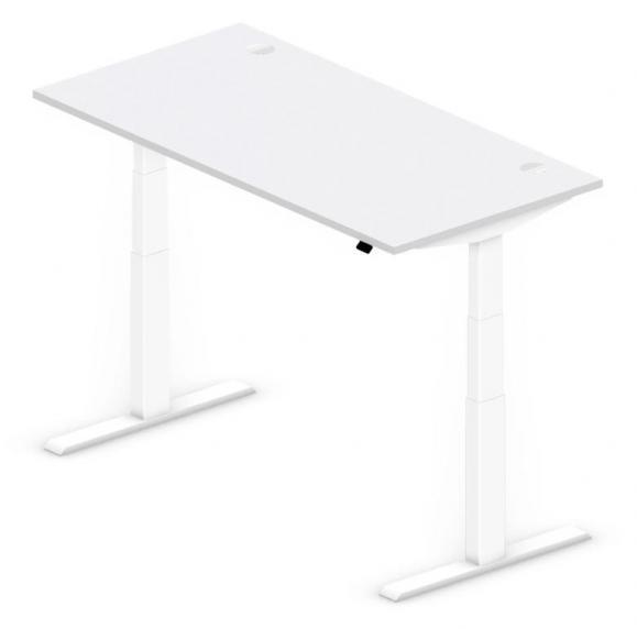 Sitz-/Stehtisch Comfort PROFI MODUL Lichtgrau | 1600 | Weiß RAL 9016