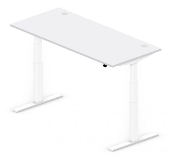Sitz-/Stehtisch Comfort PROFI MODUL Lichtgrau | 1800 | Weiß RAL 9016