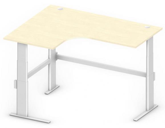 Sitz-/Stehtisch Jumboform Comfort MULTI MODUL Ahorndekor | Jumbo Freiform linksseitig