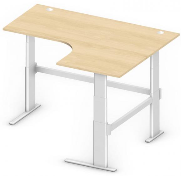 Sitz-/Stehtisch Jumboform Comfort MULTI MODUL Buchedekor | Jumbo Freiform rechtsseitig