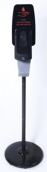 Desinfektionsmittelspender mit Sensor Schwarz
