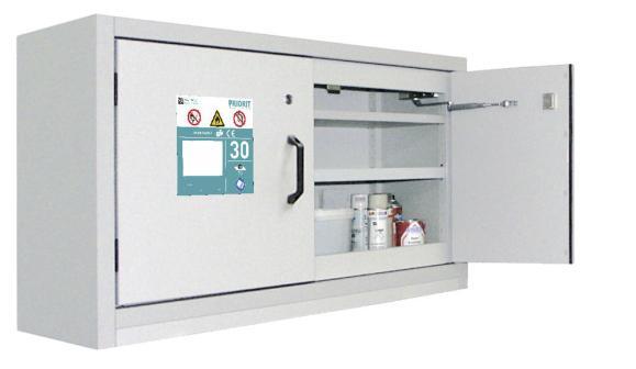 Untertisch-Sicherheitsschrank 2-flüglig Typ30 1x Auszugswanne á 19L
