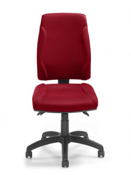 Bürodrehstuhl VITO ohne Armlehnen Rot