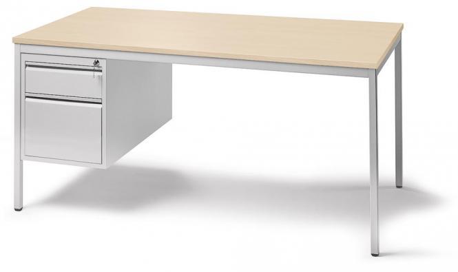 Schreibtischkombination BASE LINE Ahorndekor | 2000 | 1 Hängecontainer: Mit 1 Schub und 1 Hängeregistratur