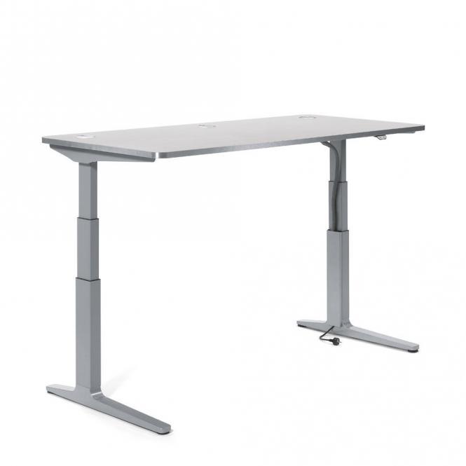 Sitz-/ Stehschreibtisch iMODUL Lichtgrau | 2000 | 800 | Rechteck