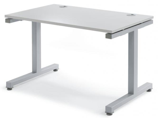 Schreibtisch Comfort 2.0 MULTI MODUL Lichtgrau | 1200 | Alusilber RAL 9006