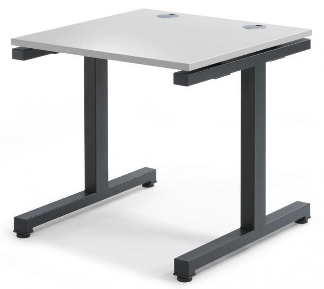Schreibtisch Comfort 2.0 MULTI MODUL Lichtgrau   800   Anthrazit RAL 7016