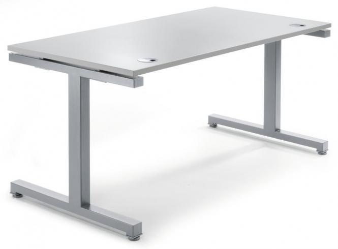 Schreibtisch Comfort 2.0 MULTI MODUL Lichtgrau | 1800 | Alusilber RAL 9006