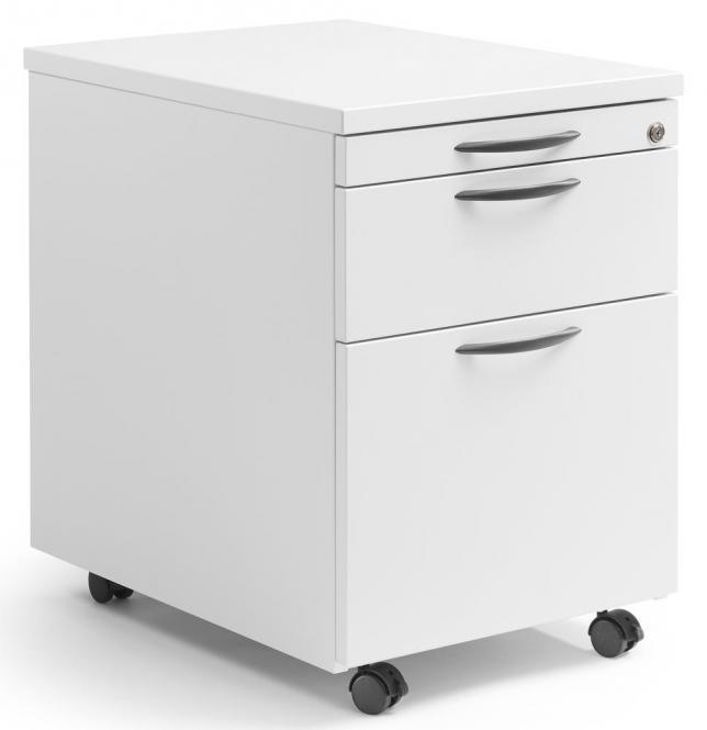 Rollcontainer MULTI MODUL Weiß | 600 | mit Schublade + Hängeregistratur