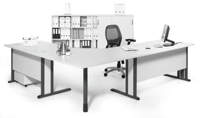 SET-Angebot Winkelarbeitsplatz MULTI MODUL Weiß