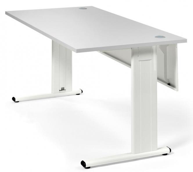 Schreibtisch Basic M MULTI MODUL Lichtgrau | 1800 | Weiß RAL 9010