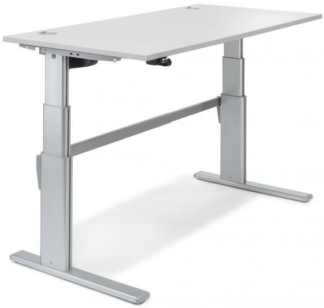 Sitz-/ Stehschreibtisch COMFORT DELTAFLEXX Lichtgrau | 1200