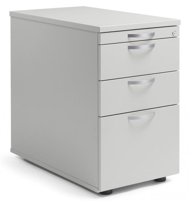 Standcontainer PROFI MODUL Lichtgrau | 800 | 2 Schübe + 1 HR-Schub