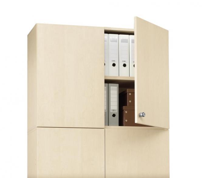 Aufsatz-Flügeltürenschrank PROFI MODUL Schrankwand Ahorndekor | 1200 | Aufsatzelement | 750 mm(2 OH)