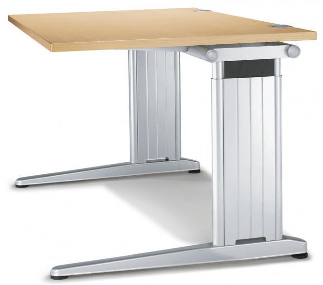 Schreibtisch C-Fuß PROFI MODUL Buchedekor | 1000