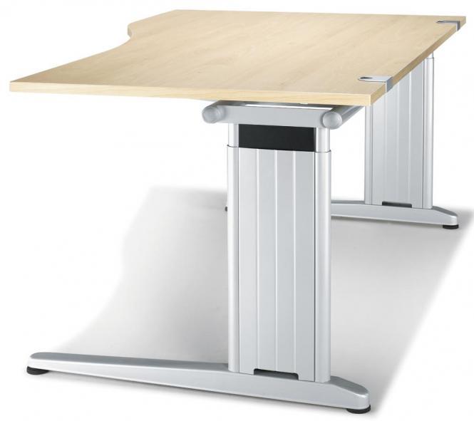 Schreibtisch Freiform C-Fuß PROFI MODUL Ahorndekor | 1600 | Freiform linksseitig