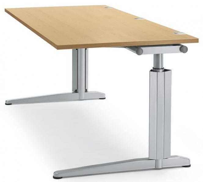 Schreibtisch T-Fuß PROFI MODUL Buchedekor | 1600