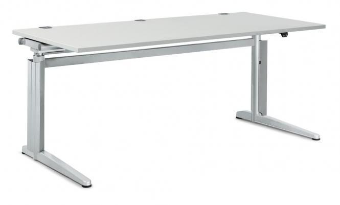 Sitz-/ Stehtisch PROFI MODUL Lichtgrau | 1600 | Rechteck